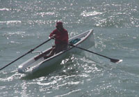 Rowing in the open ocean in the Florida Keys
