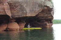 Apostle Islands National Seashore off of Bayfield Wisconsin
